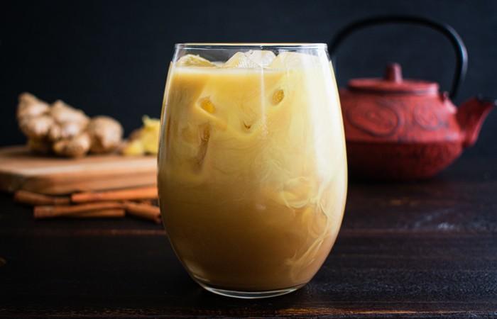 Cinnamon turmeric ice tea