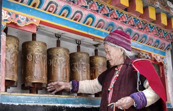 An elderly woman from Arunachal Pradesh's