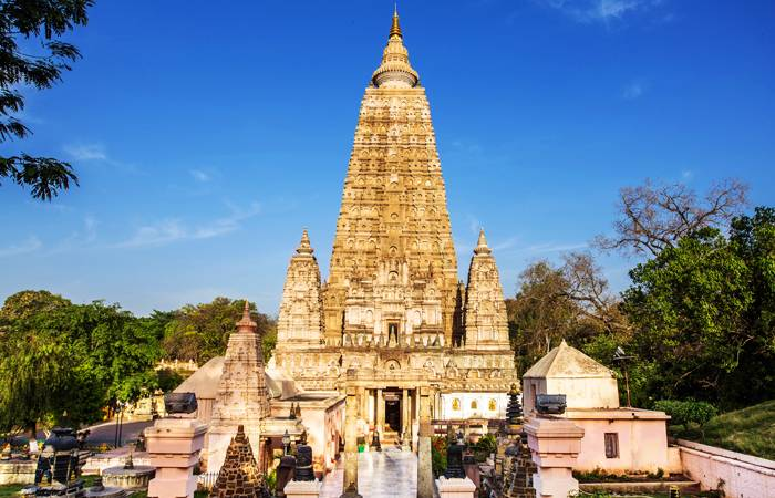 The Mahabodhi Temple in Bodhgaya, Bihar, India. This is where, under the Bodhi tree, Lord Buddha attained enlightenment