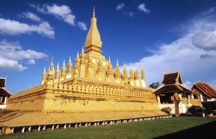 The golden Pha That Luang stupa, Laos