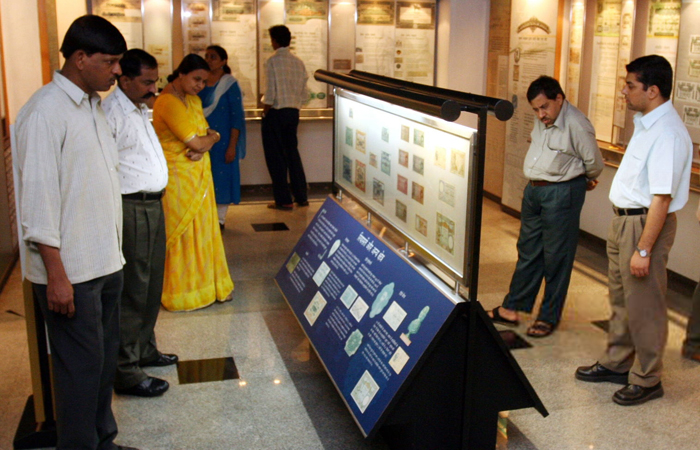 Exhibits at the RBI Monetary Museum in Mumbai are accompanied by information about the origin and evolution of money, and its role in India's economic history