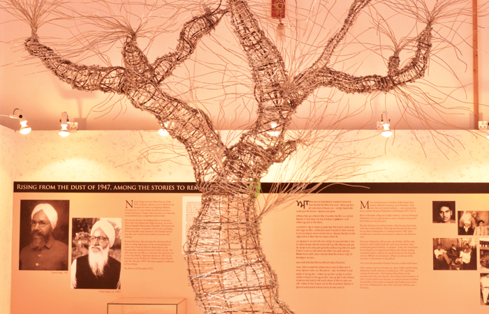 The barbed-wire tree called Tree of Hope is the piece de resistance of the Partition Museum's Gallery of Hope (the last gallery). Visitors are encouraged to pen down messages of love, peace and harmony on leaf-shaped papers and hang them on the branches of the tree