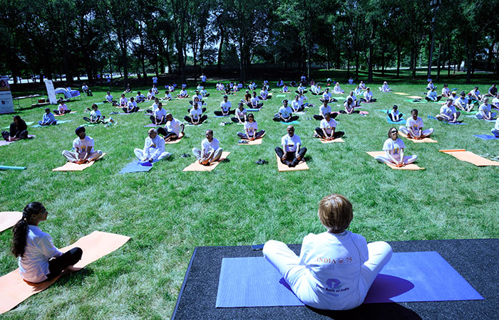 International Day of Yoga 2021 celebrations at Consulate General of India in Chicago, the US, was marked by yoga and pranayama sessions along with an engaging online quiz contest on June 21, 2021.