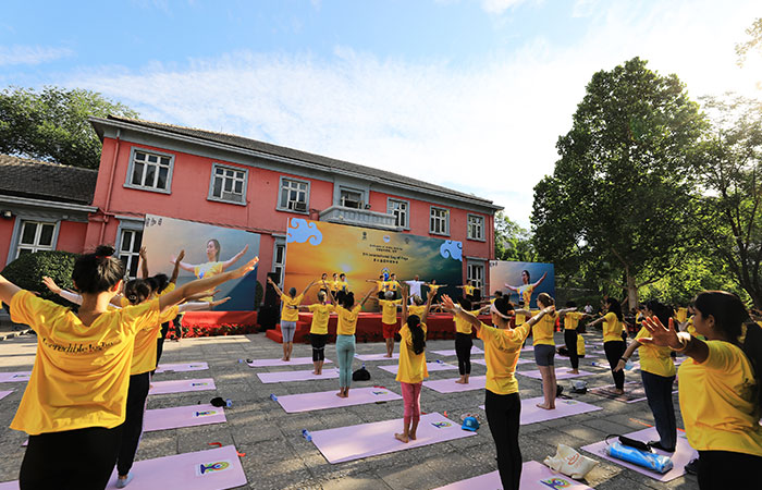 In China, the 7th International Day of Yoga was celebrated at the Indian embassy in Beijing with great fervour on June 20, 2021. More than 500 people, including many yoga enthusiasts and diplomats, gathered at India House to participate in the event