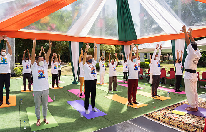 The Embassy Of India, Caracas, Venezuela, marked IDY 2021, with a yoga session at the iconic La Casona Cultural Complex in Caracas on June 21, 2021.